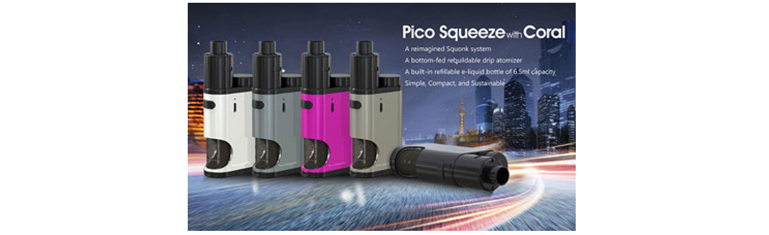 Kit Istick Pico Squeeze BF + Coral Eleaf